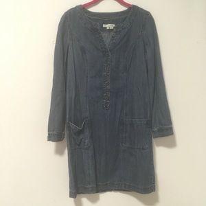 Boden Blue Denim Shift Dress 10R